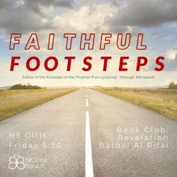 Faithful Footsteps flyer
